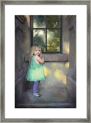 Looking Through Framed Print by Anna Rose Bain