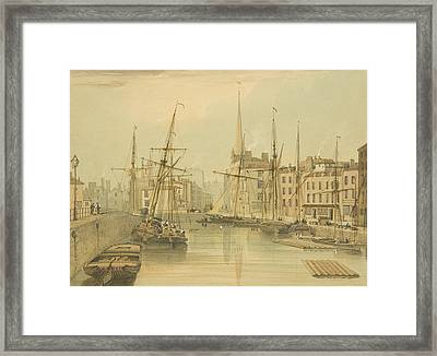 Looking Towards Stone Bridge Framed Print by Thomas Leeson the Elder Rowbotham
