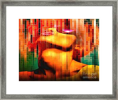 Looking Up-blowing Bubbles Framed Print by Catherine Lott