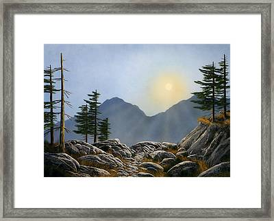 Lookout Rock Framed Print by Frank Wilson
