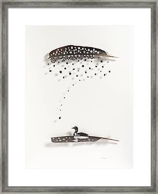 Loon Star Framed Print by Chris Maynard