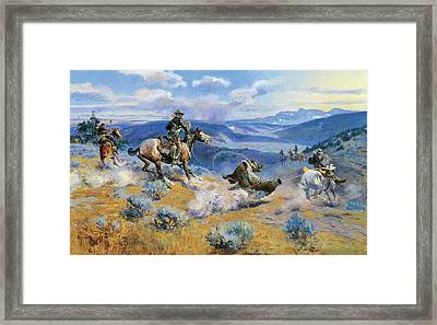 Loops And Swift Horses Are Surer Than Lead Framed Print by Charles Russell