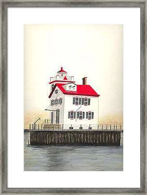 Lorain Lighthouse Framed Print by Michael Vigliotti