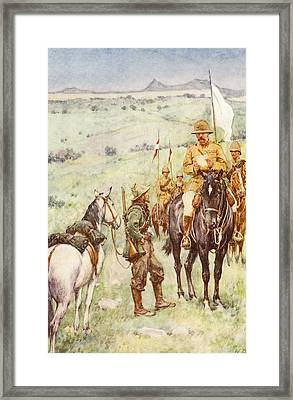 Lord Kitchener And General Cronje S Framed Print by Vintage Design Pics