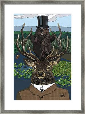 Lord Of The Manor With Hidden Pictures Framed Print by Konni Jensen