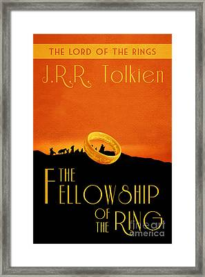 Lord Of The Rings Fellowship Of The Ring Book Cover Movie Poster Framed Print by Nishanth Gopinathan
