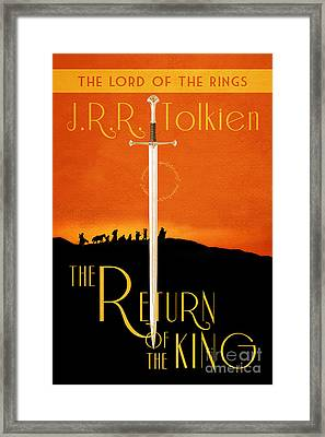 Lord Of The Rings The Return Of The King Book Cover Movie Poster Framed Print by Nishanth Gopinathan