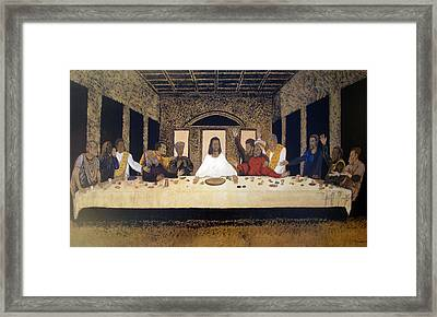 Lord Supper Framed Print by Lee McCormick