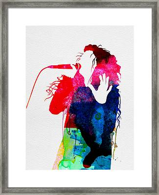 Lorde Watercolor Framed Print by Naxart Studio