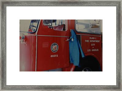 Los Angeles Fire Department Framed Print by Rob Hans