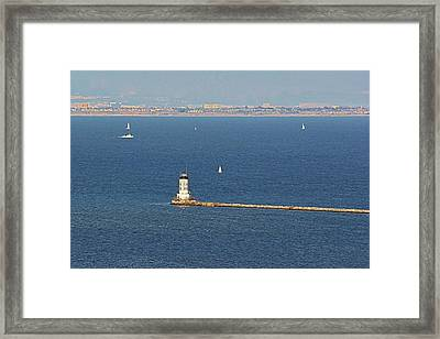 Los Angeles Harbor Light - Angel's Gate - California Framed Print by Christine Till