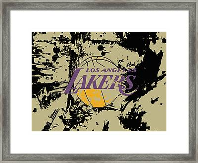 Los Angeles Lakers  Framed Print by Brian Reaves