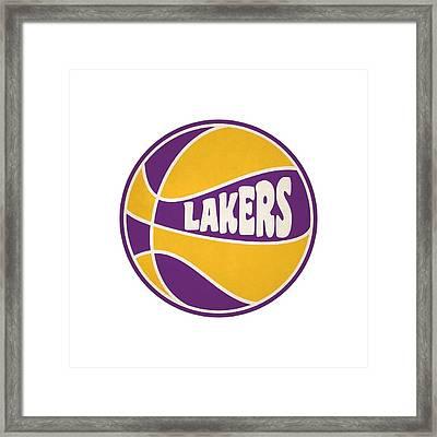 Los Angeles Lakers Retro Shirt Framed Print by Joe Hamilton