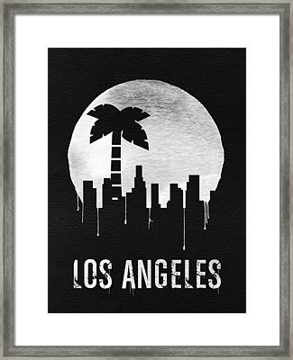 Los Angeles Landmark Black Framed Print by Naxart Studio