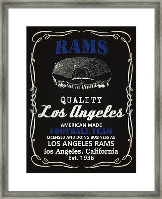 Los Angeles Rams Whiskey Framed Print by Joe Hamilton