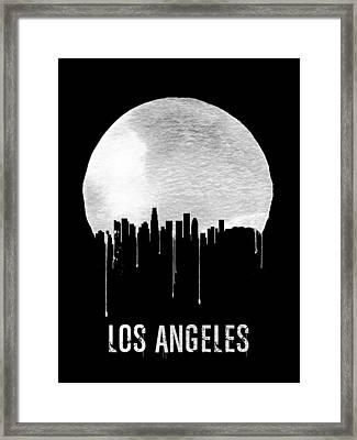 Los Angeles Skyline Black Framed Print by Naxart Studio
