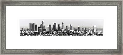 Los Angeles Skyline Framed Print by Daniel Hagerman
