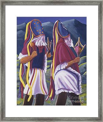 Los Matachines Framed Print by George Chacon