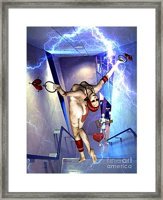 Loss Of Humanity Via Corporate Control Framed Print by Tammera Malicki-Wong