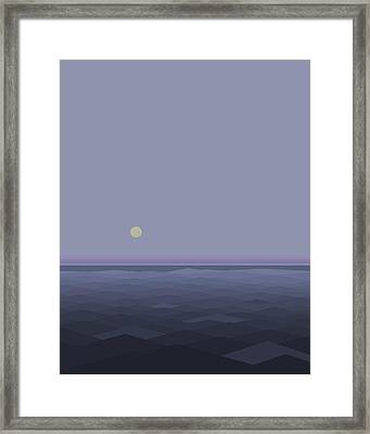 Lost At Sea Framed Print by Val Arie