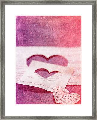 Lost Hearts Framed Print by Rebecca Cozart