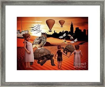 Lost In A Dream Framed Print by Kathy Franklin