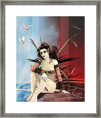 Lost In A Foreign World Framed Print by Jutta Maria Pusl