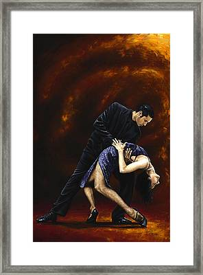 Lost In Tango Framed Print by Richard Young