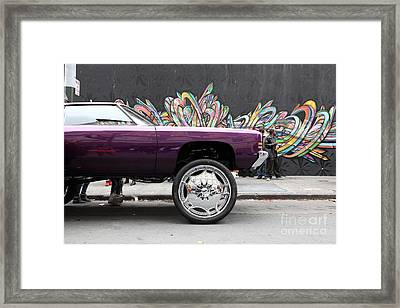 Lost In Urban America - Boys In The Hood And The Ride -tenderloin District -san Francisco -5d19356 Framed Print by Wingsdomain Art and Photography