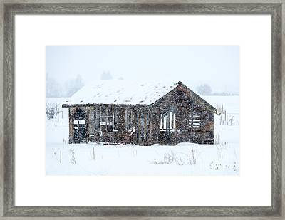 Lost In Winter Framed Print by Mike Dawson