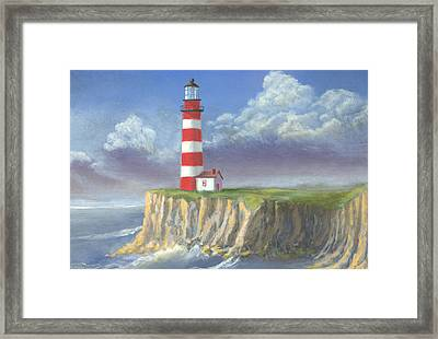 Lost Point Light Framed Print by Jerry McElroy