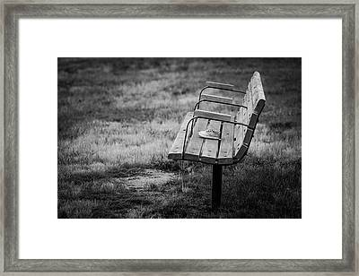 Lost Soles Bench Minimalist Framed Print by Terry DeLuco