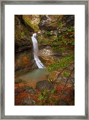 Lost Valley Falls Framed Print by Ryan Heffron