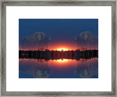 Lost World Reflections Framed Print by Andrea Lawrence