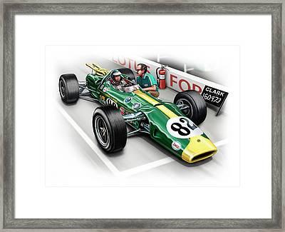 Lotus 38 Indy 500 Winner 1965 Framed Print by David Kyte