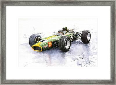 Lotus 49 Ford F1 Jim Clark Framed Print by Yuriy  Shevchuk
