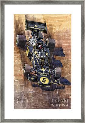 Lotus 72 Canadian Gp 1972 Emerson Fittipaldi  Framed Print by Yuriy  Shevchuk