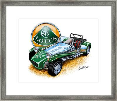 Lotus Super 7  Framed Print by David Kyte