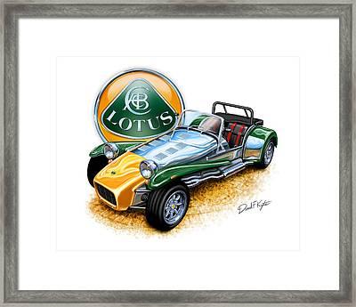 Lotus Super Seven Sports Car Framed Print by David Kyte