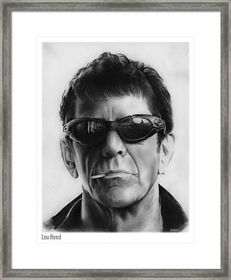 Lou Reed Framed Print by Greg Joens
