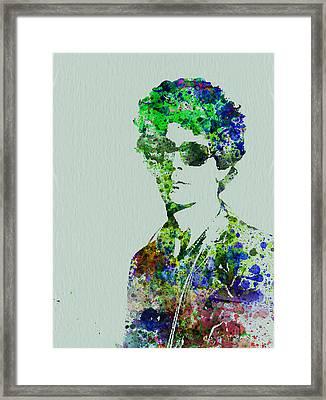 Lou Reed Framed Print by Naxart Studio