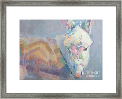 Louie Framed Print by Kimberly Santini