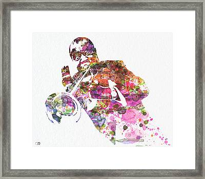 Louis Armstrong 2 Framed Print by Naxart Studio