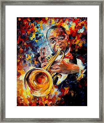 Louis Armstrong Framed Print by Leonid Afremov