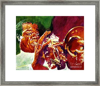 Louis Armstrong Pops Framed Print by David Lloyd Glover