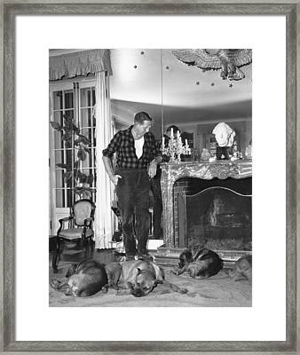 Louis Bromfield Framed Print by Underwood Archives
