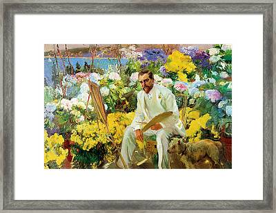 Louis Comfort Tiffany Framed Print by Joaquin Sorolla