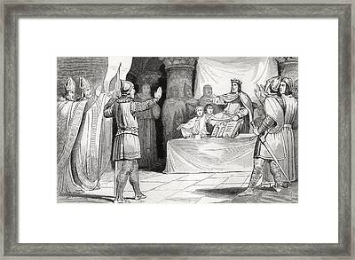 Louis I The Pious 778 To 840 At Court Framed Print by Vintage Design Pics