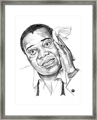 Louis Satchmo Armstrong Framed Print by Murphy Elliott