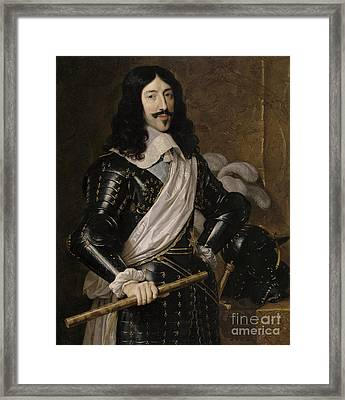 Louis Xiii Of France Framed Print by Philippe de Champaigne